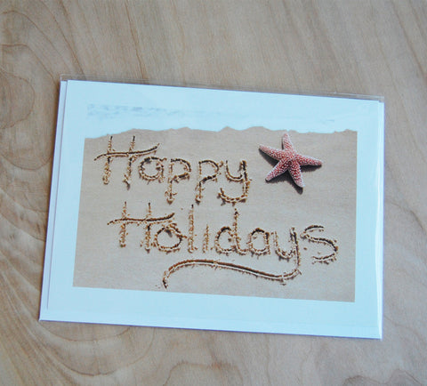SALE Sand Cards : Happy Holidays