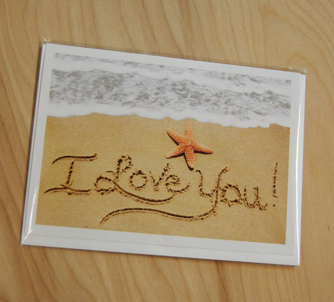 Sand Cards : I Love You