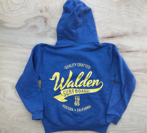 Kid's Banner Hoodie : royal heather
