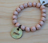 SALE Simbi clay bead bracelet : Blush