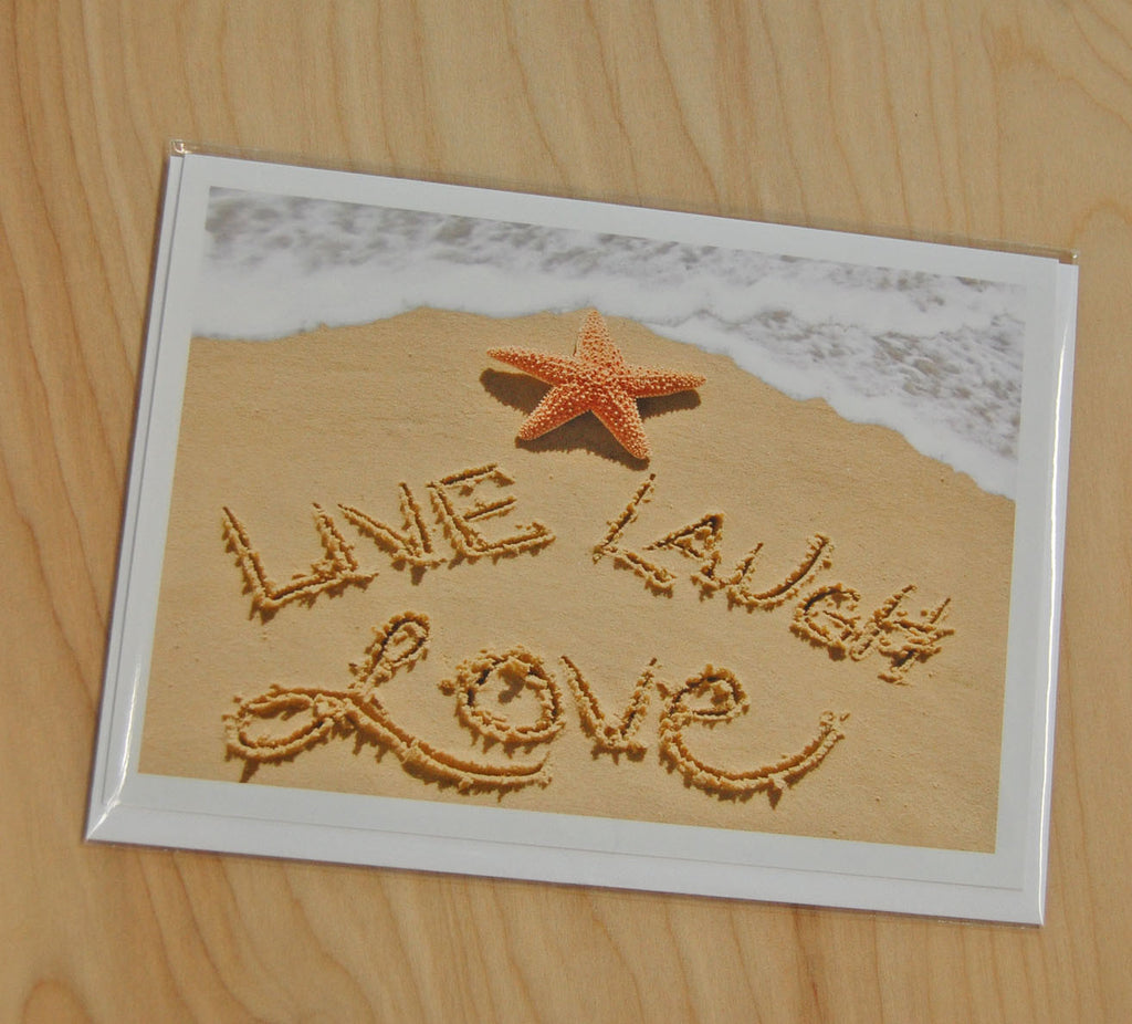 Sand Cards : Live, Love, Laugh