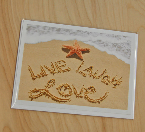 Copy of Sand Cards : Live, Love, Laugh