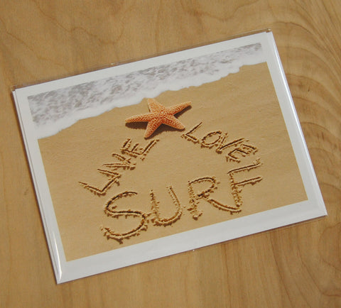 Sand Cards : Live, Love, Surf