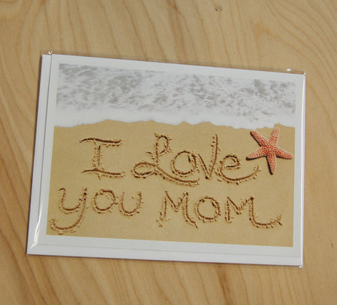 Sand Cards : I Love you Mom