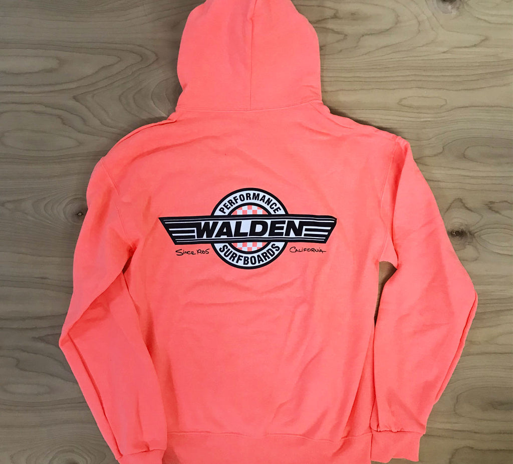 Checkerboard hoodie -80's orange