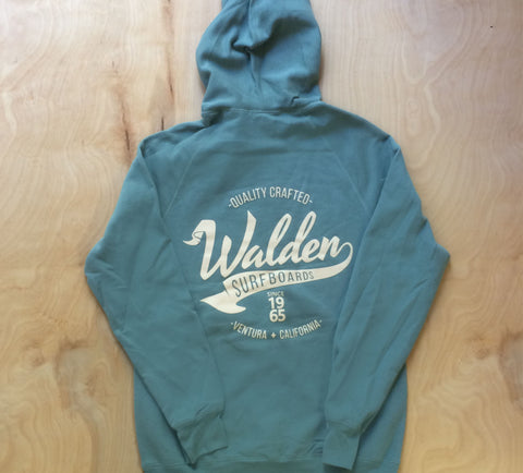 Banner logo lined hoodie:Green