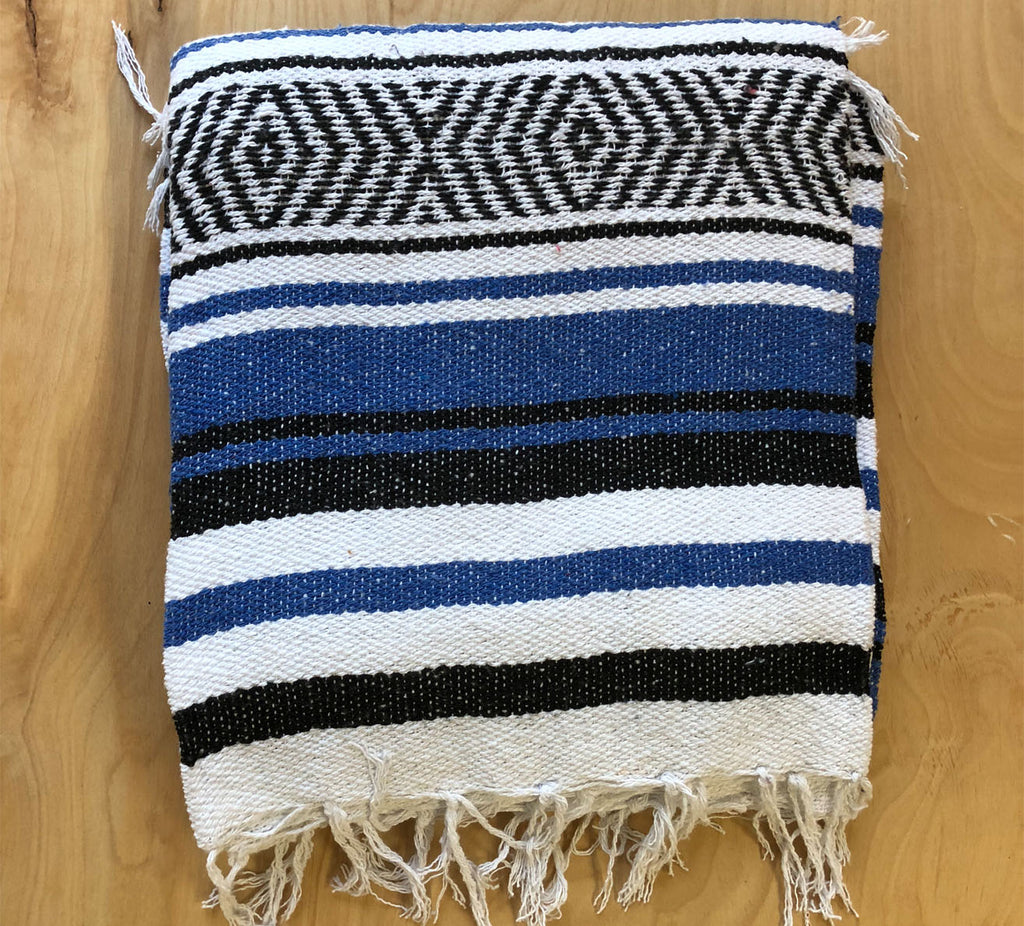Mexican Blanket: Navy-Black