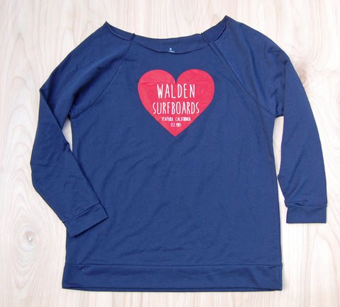 Sale Heart 3/4 sleeve : Navy