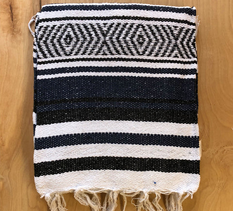 Mexican Blanket: Black-navy