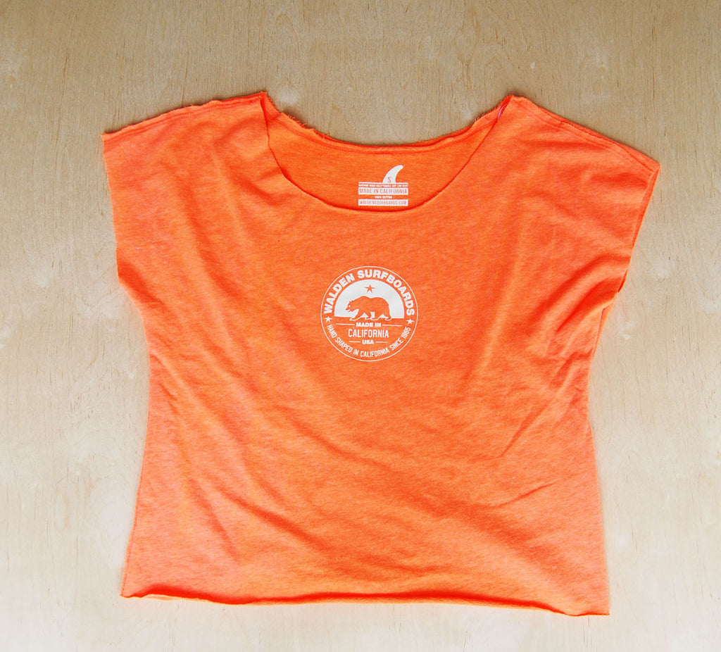 SALE Made in Ca. slouchy top : Neon Orange