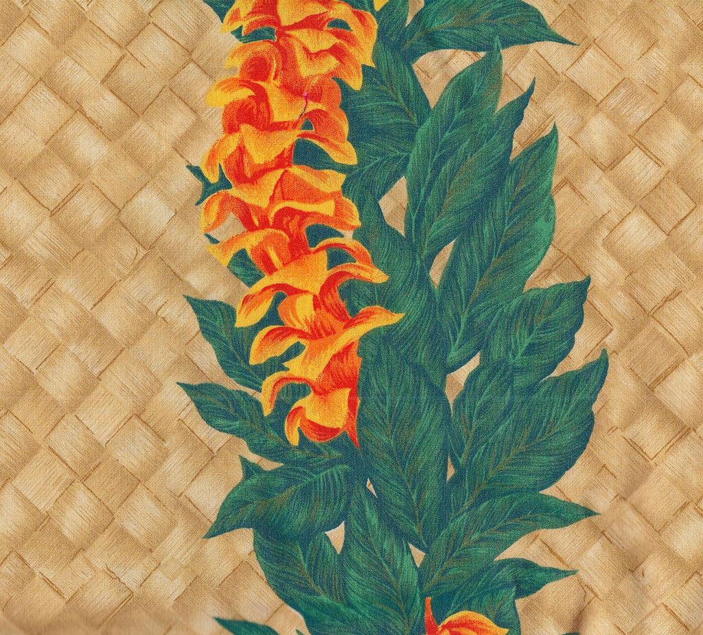 Orange lei Tappa Fabric