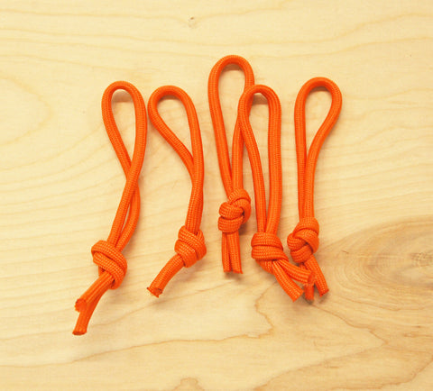 Leash Cords Orange: 5 pack