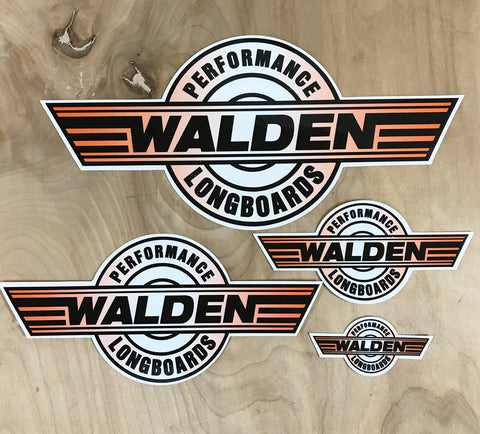 Walden Performance Stickers : Orange