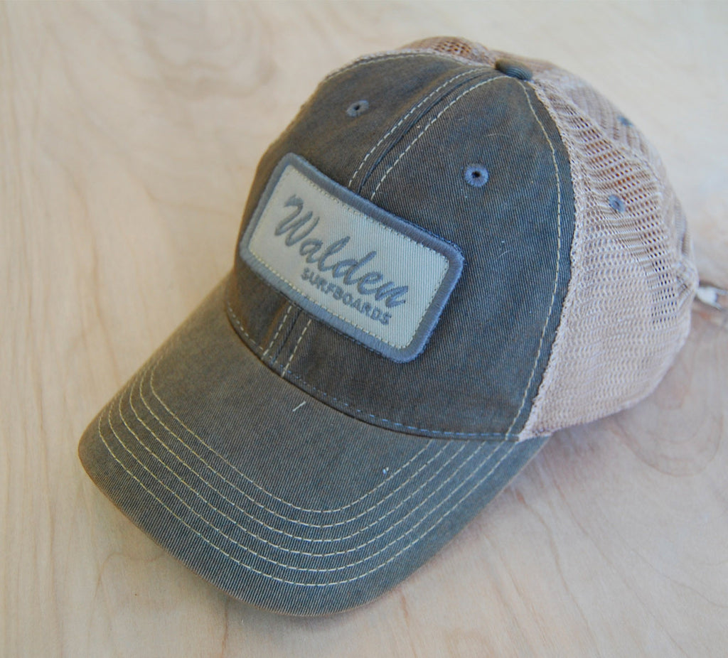 Sign Script Trucker : grey