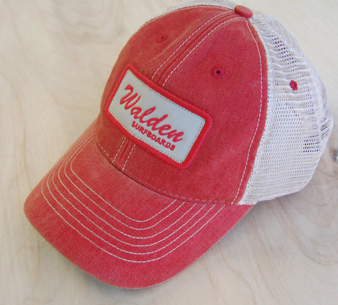 Sign Script Trucker : Red