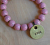Simbi clay bead bracelet : Rose