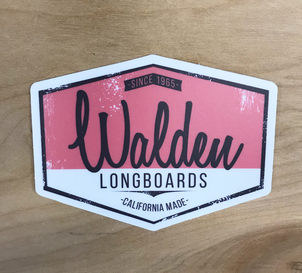Walden Script Sticker: Red