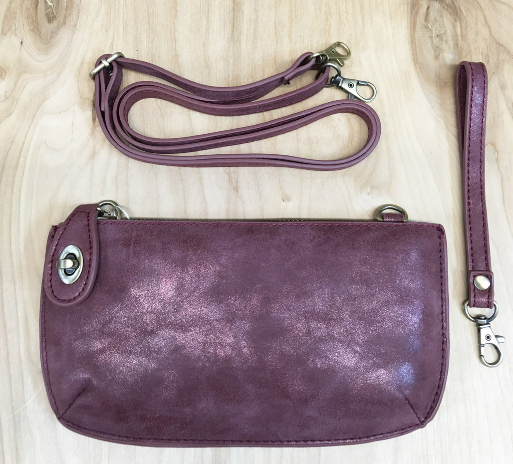FINAL Sale Wristlet clutch : Wine Lux