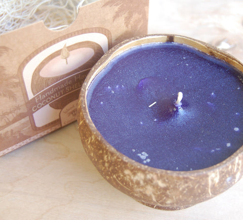 Coconut shell candle : Pikake