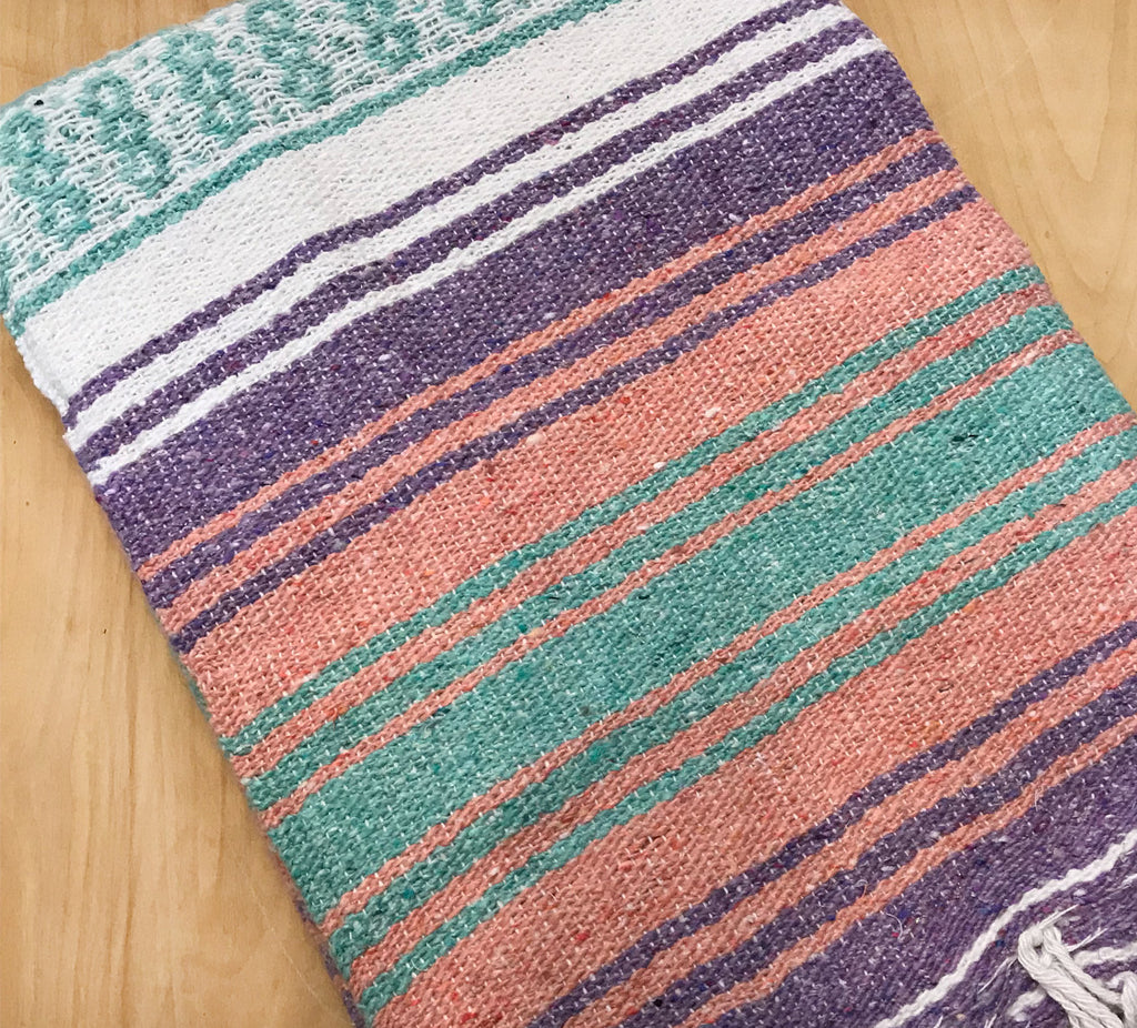 Mexican Blanket: Lilac Peach