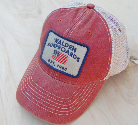 Stars and Stripes trucker : red