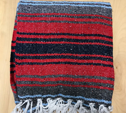 Mexican Blanket: Red Navy