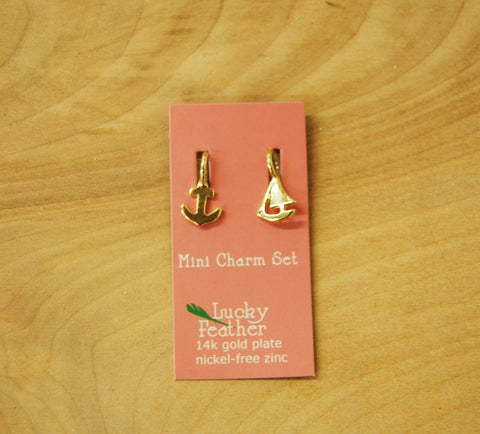 Lucky Feather Charm : Mini Anchor/boat