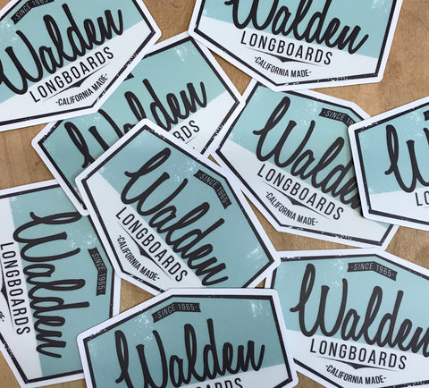 Walden Script Sticker green pack