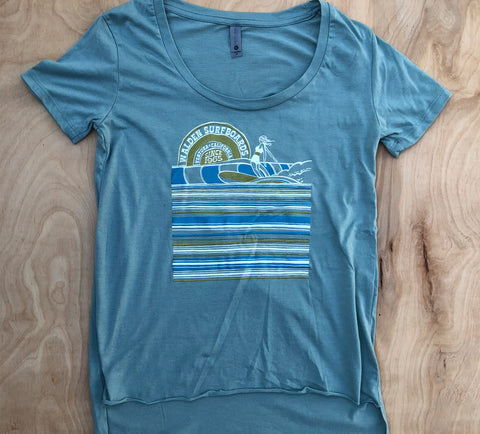 Surf Slide t-shirt: seaglass