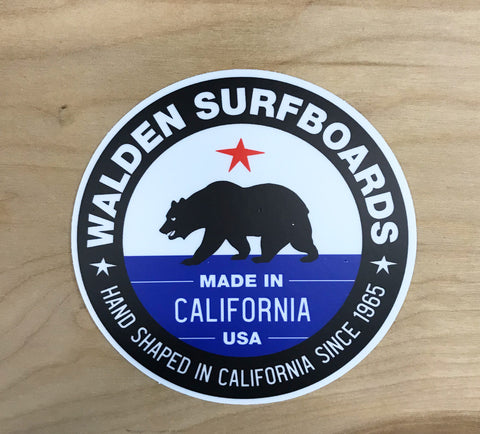 Walden Made in Ca. sticker