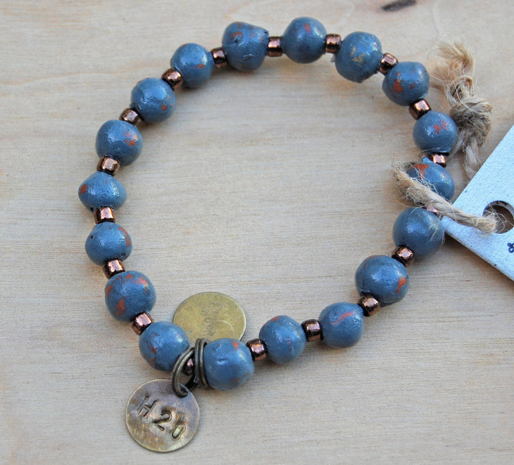 Sale Simbi clay bracelet : gray small
