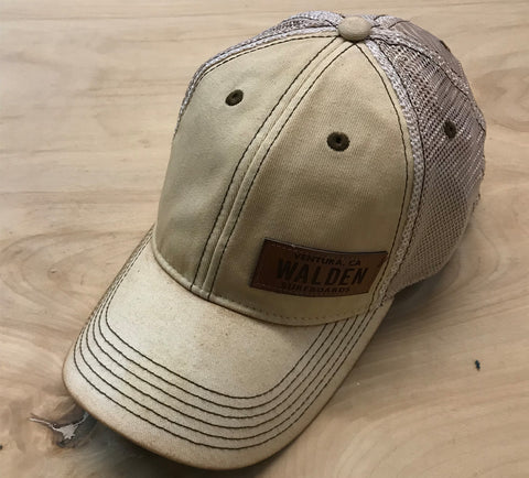 Walden leather patch trucker