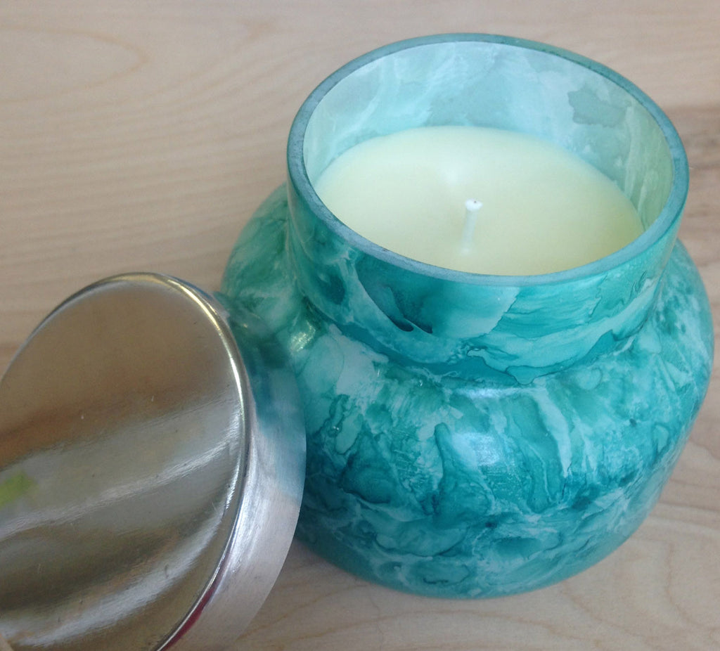 Capri Blue mini Candle : Watercolor mint