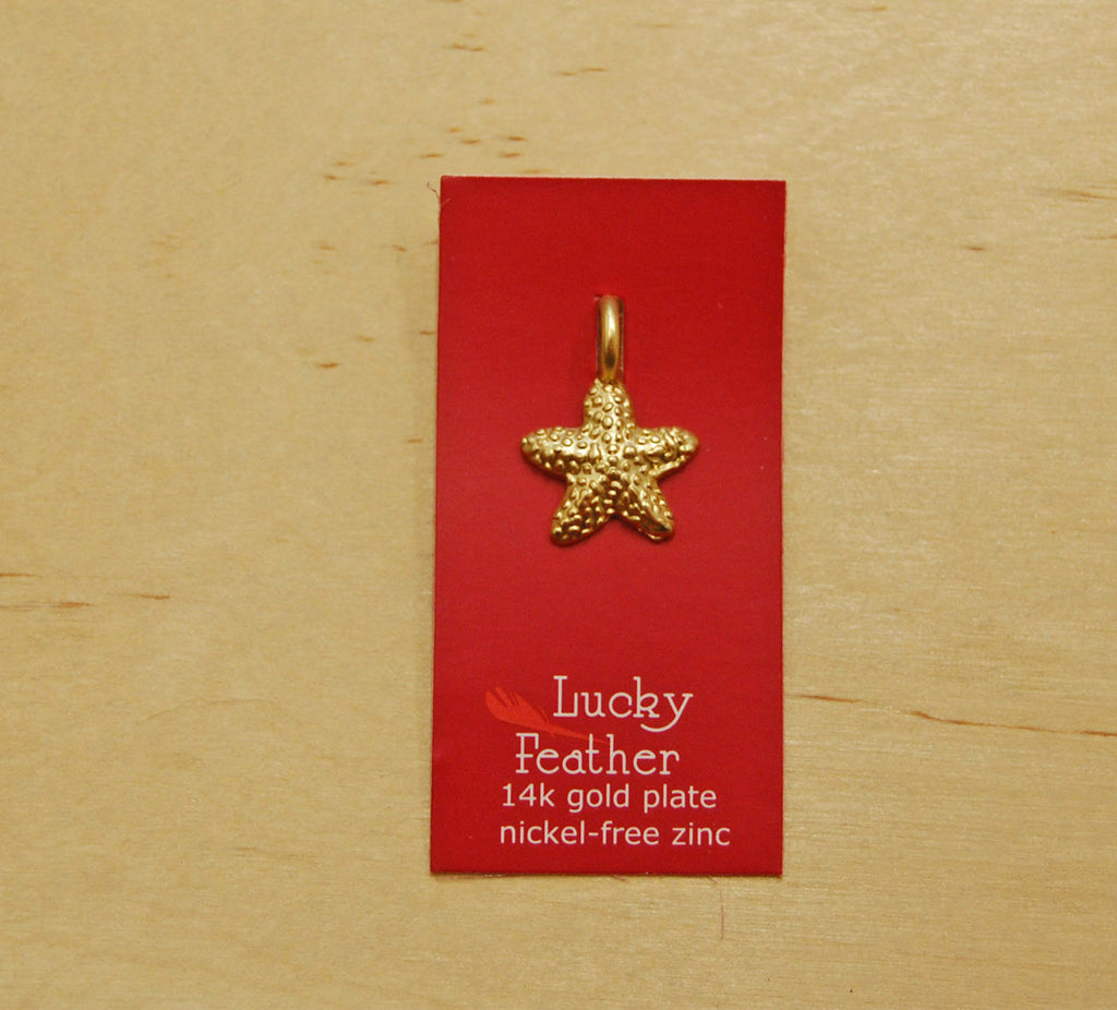SALE Lucky Feather Charm : Starfish