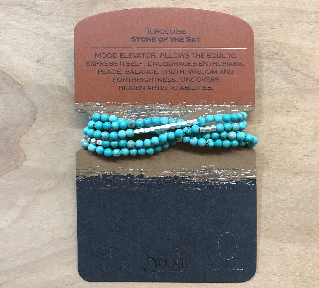 Scout wrap: Turquoise silver