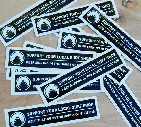 Support your shop sticker