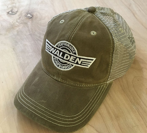 Sale Waxed performance trucker: tan