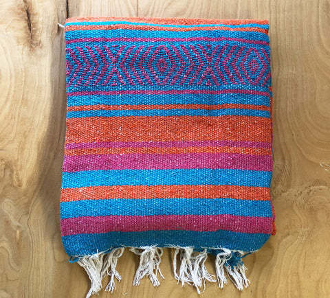 Mexican Blanket: teal-pink-orange