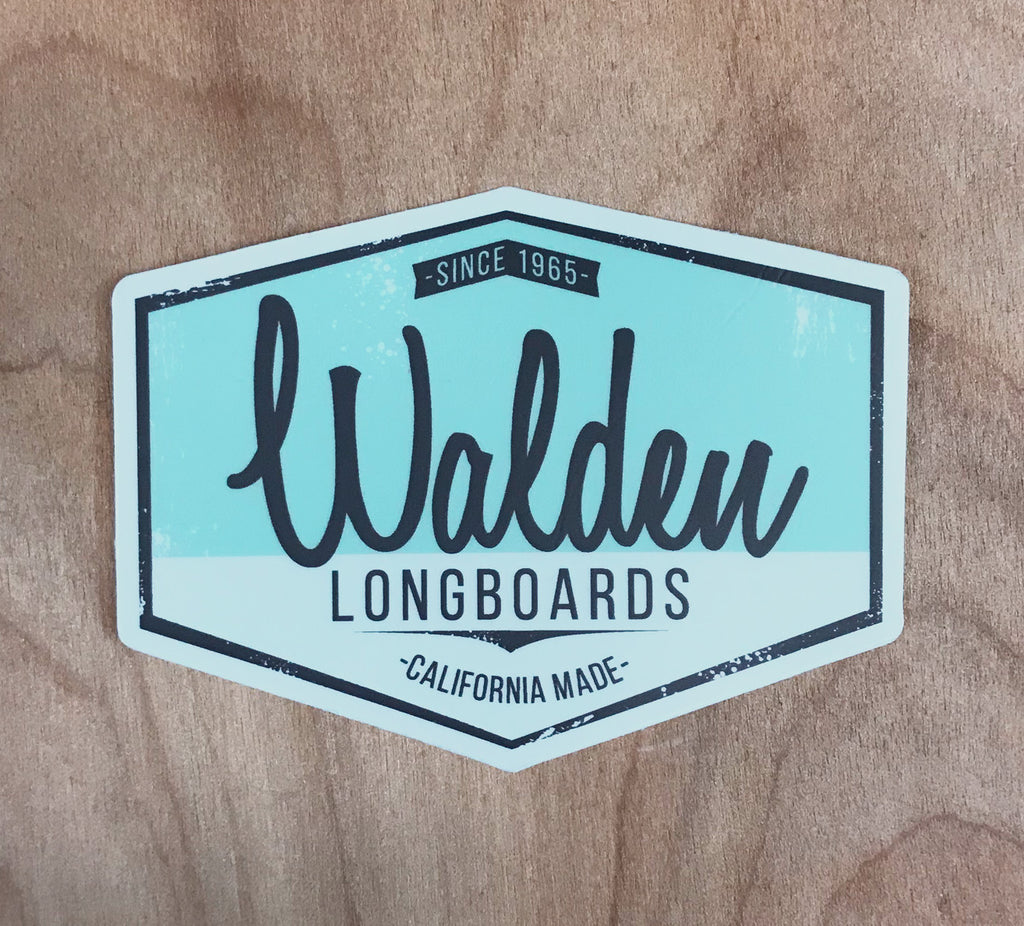 Walden Script Sticker