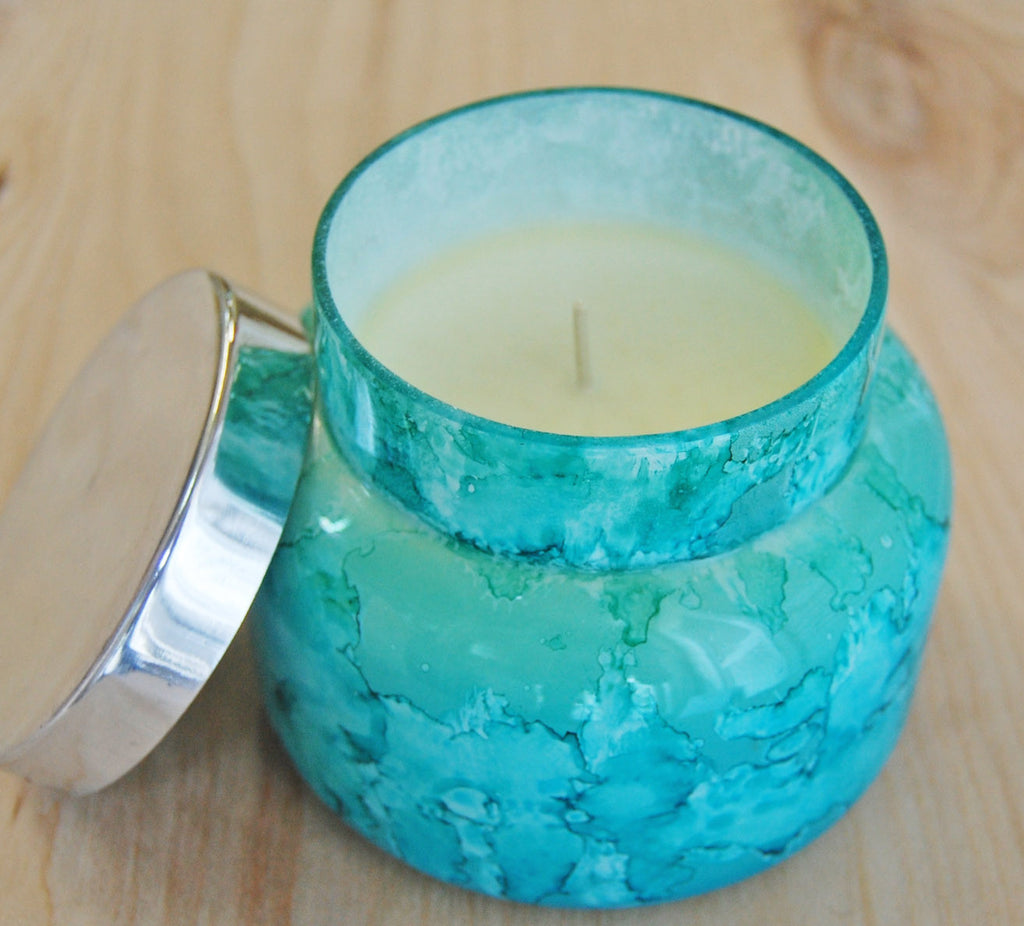 Capri Blue Volcano Candle : Watercolor