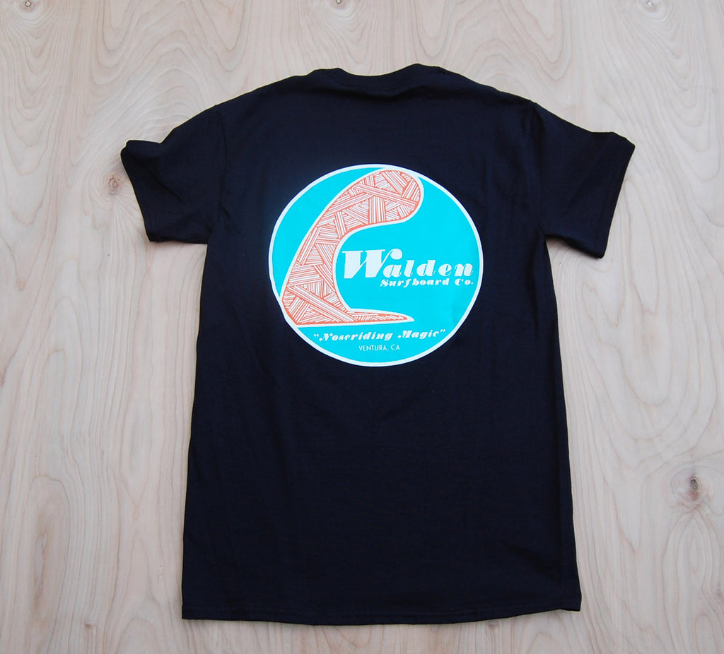 Sale Single Fin t-shirt : Black