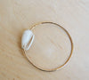 Bella Beach Gold Bangle : White