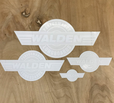 Walden Performance Stickers : White