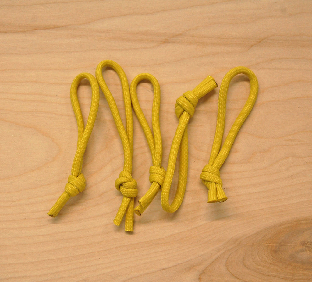 Leash Cords Yellow: 5 pack