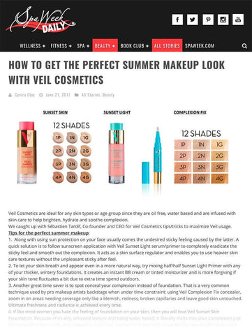 How to get the perfect summer makeup look with Veil Cosmetics - Spa Week Daily