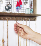 Bracelet Rod Jewelry Organizer (rustic brown)