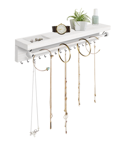 White Simple Hanging Shelf Organizer