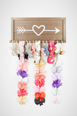 Rustic Hair Bow Holder Organizer for Girls