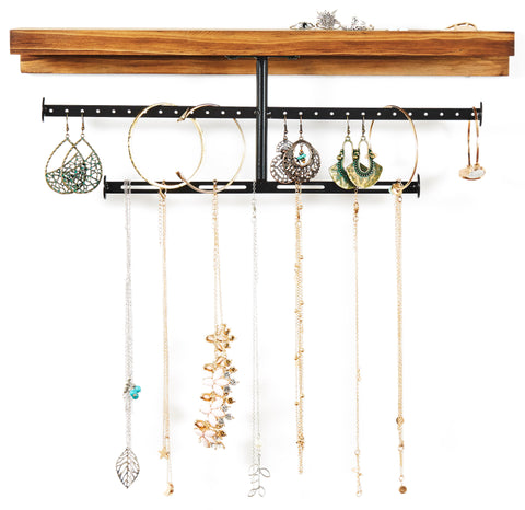 Rustic T-Bar Jewelry Organizer