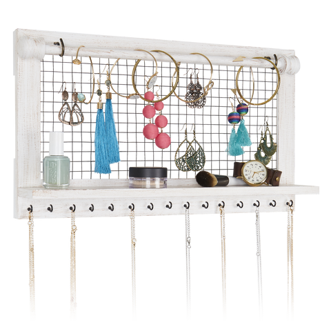 Farmhouse Rod Jewelry Organizer
